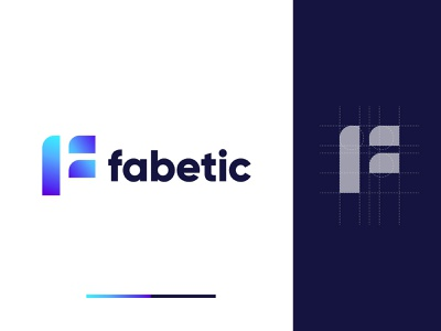 F Geometric Logo Design Concept - F Letter Logo vector typography app logo design logo designer logo design flat brand identity branding design logo company logo agency colorful minimal modern modern logo geometric geometric logo f logo f