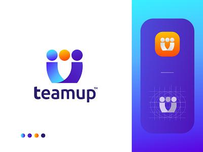 Teamup Logo Design - Unity Logo Mark - Team Business Logo u logo abstract modern software logo app logo vector illustration design branding brand identity logo logo designer logo design modern logo corporate logo business logo unity logo team logo