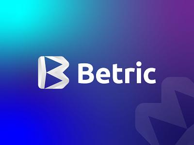 B Modern Geometric Letter Logo Design icon ui vector illustration design branding logo brand identity logo designer logo design modern logo app logo gradient logo abstract minimal modern geometric logo b monogram b letter b logo