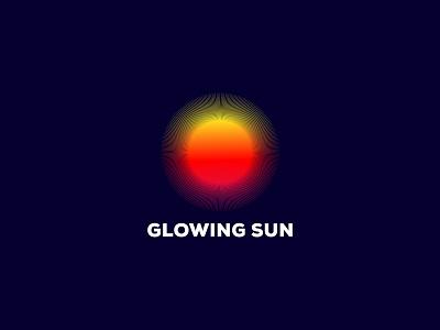 Glowing Sun ui vector illustration design branding brand identity logo logo designer logo design modern logo colorful graident clean creative power glow sun