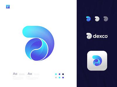 D Modern Abstract Logo Mark app icon app logo simple logo mark creative logo minimal logo modern logo abstract logo logodesign logo branding d logo mark d letter d logo d