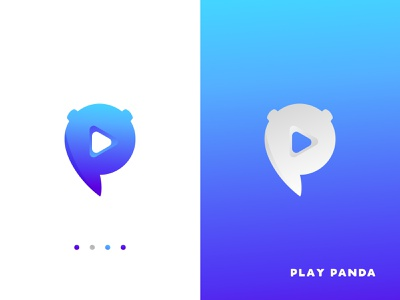 Play Panda Logo Design logo inspirations flat icon app ui vector illustration design branding logo logo designer logo design brand identity logo design branding creative logo simple abstract logo minimal logo modern logo play logo
