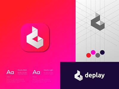 D Play mark Logo Design logo designer illustration vector logo design modern logo colorful simple abstract modern brand identity branding design logo music production media logo play logo play mark d logo d
