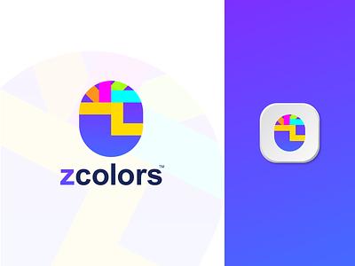 Z - Color Brand Logo Mark vector illustration design logo designer logo design modern logo clean simple creative colorful conceptual logos brand identity branding logo minimal modern paint color z