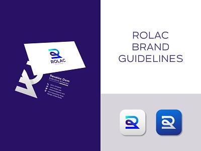 Rolac Blueprint Brand Guidelines - R + Paint Logo Mark graphic design ui blueprint abstract minimal modern vector illustration logo designer modern logo best logo designer top logo designer logo design design logo visual identity brand guidelines brand identity branding rolac brand guidelines