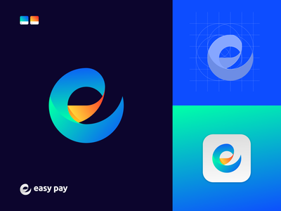 E + Pay Logo Mark - Payment Logo Design - Unused transfer finance payment pay