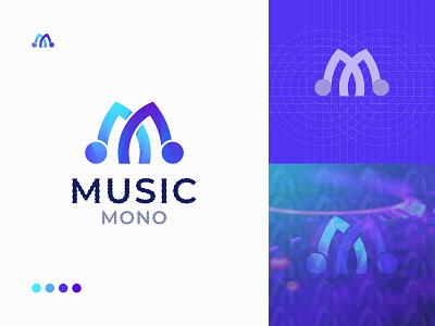 M + Music Logo Design - Unused Concept logo designer app icon music icon guiter sound logo band logo m logo music logo music m