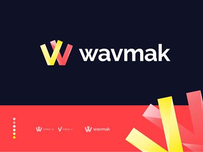 Wavmak Logo Mark - W+M Letter Mark business logo gradient design logo designer wv v logo w logo icon logo mark logos startup brand identity branding modern logo design modern logo creative logo best logo top logo designer logo design logo