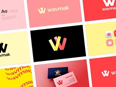 Wavmak Logo Branding - Unused Concept icon design brand logo designer modern logo logotype visual identity reveal logo design gradient modern minimal vector typography logo brand guidelines identity brand identity branding
