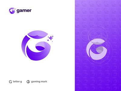 G for Gaming modern logo design brand guidlines gradient startup logo mark logos vector design brand identity branding logo logo designer logo design modern logo playing game logo gamer gaming letter g g logo
