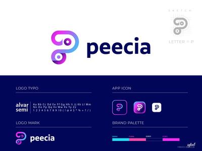 peecia Logo Branding ( P- Letter Concept )