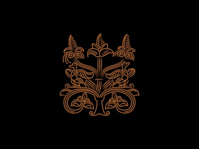 #4 the image of the ancient Russian patterns outline vector pattern logo icon illustration