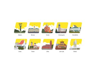 set of icons for Krasticket website