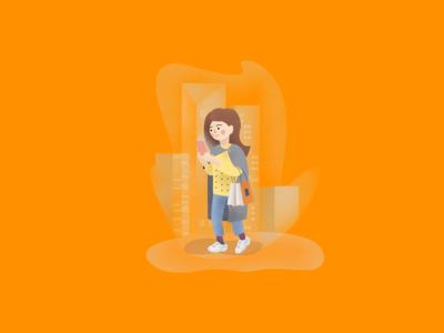 Illustration for the app icon ux ui branding app art digital illustration digital painting character vector design illustration