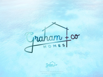 GRAHAM   CO HOMES - REAL ESTATE LOGO IDEA vector brand identity company logo milimalist modern illustrator logo design creative logo bilding house home sophisticated logo real estate realestate