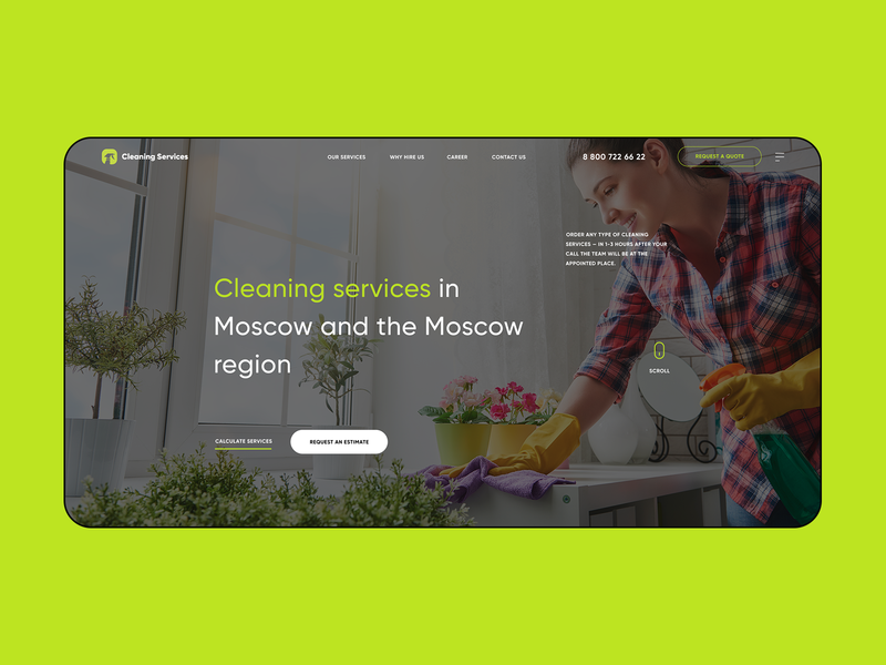Cleaning services clean ui home page moscow apartment service cleaning