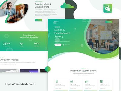 Design and Development Agency development design web icon set web design flat agency web template creative ui design