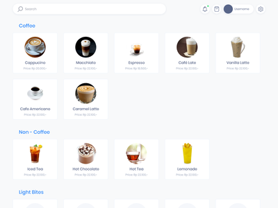 Point of Sales Coffe Shop coffee coffee shop ui design web app design web application point of sale