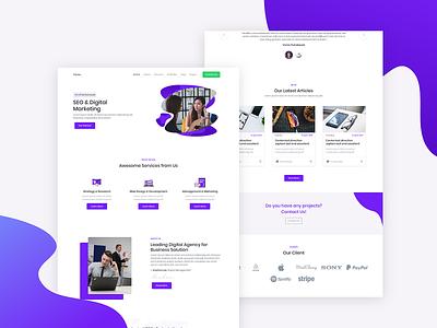 Yorex - SEO and Digital Marketing flat ui design web template seo agency seo