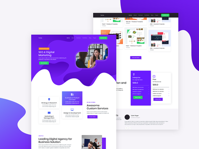 Yorex - Homepage 2 web template flat creative seo