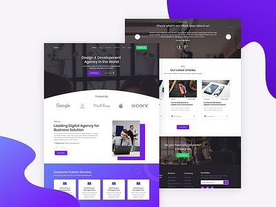 Yorex - Homepage 3 web template seo agency creative ui design flat