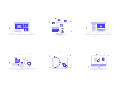 Web icons collection web icons icon set icons design flat