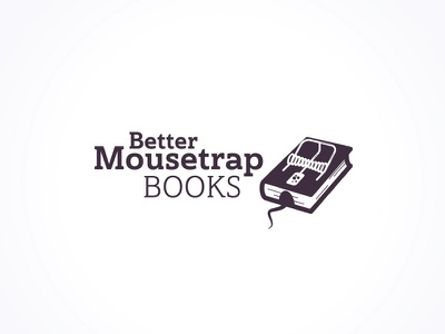 Logo for the new mystery book imprint typography design vector illustration clever clever logo reading logo reading serif font better publishing logo mousetrap books book book logo branding