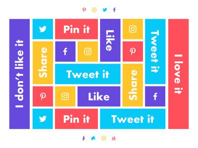 Daily UI 010 // Social Share ux ui futura cta button share share button pin it button pinterest twitter instagram facebook social share button social daily ui social share social share daily ui 010 daily ui 100 dailyui daily ui