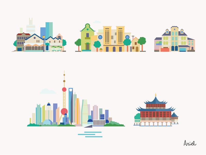 Five famous Shanghai neigbourhoods