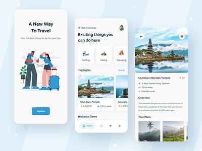 Tripy - Travel Plan App holiday ux ui design booking interface minimal mobile illustration app mobile design travel app travel ux ui popular shot