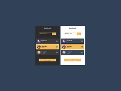 Dashboard menu dashboad interface ui design ui