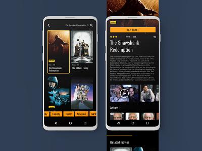 Movie search app mobile ui uidesign interface ui searching movie app