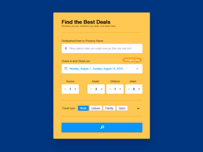 Booking.com Search Form