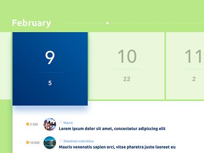 Calendar Interface sketchapp ui interface calendar