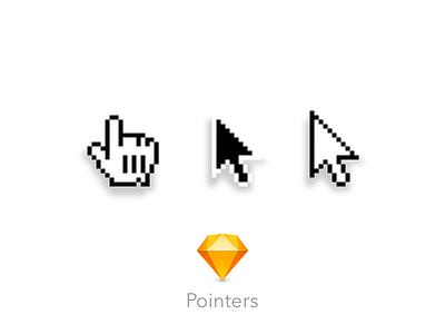 Pointers free sketchapp hand arrow pointer