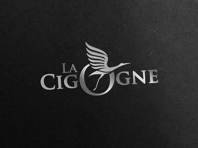 """"""" La Cigogne """" logo design"""