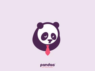 Pandaa logo design
