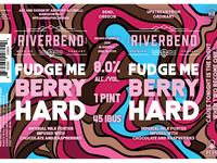 Fudge Me Berry Hard - Beer Label