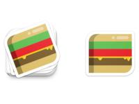 Cheeseburger Sticker/Coaster