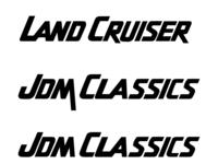 Land Cruiser Font Recreation