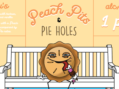 Peach Pits & Pie Holes - Beer Label
