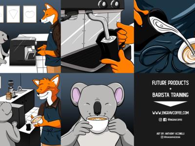 Engrav Coffee Comic Book