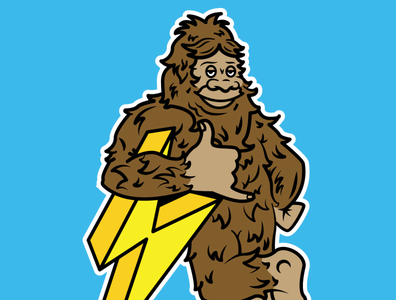 Electric Bigfoot Mascot