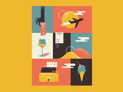 Antiseasonal Depression illustrator minimal icon flat vector design illustration