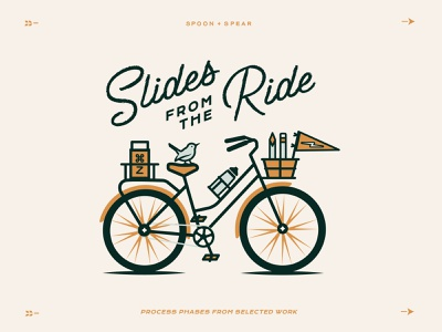 Slides from the Ride 3 enjoy the journey typography series outdoors bird flat vector process lettering bicycle print bike