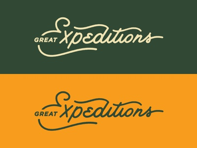 Great Expeditions Lettering typography script outdoors travel flat vector pennant vintage lettering expeditions print type