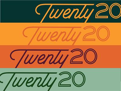 Script Slidin' into 2020 twenty charlotte monoline brand identity vintage inspired 2020 script typography print lettering custom