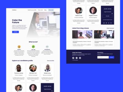 Hire Black Website UI Design