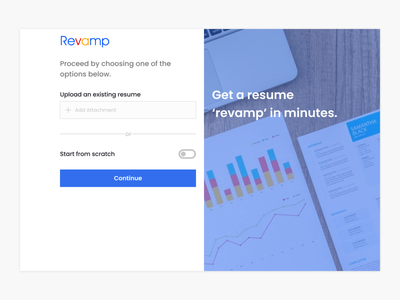 Getting Started Page (WIP) for a Resume Builder nigeria africa design ui figmadesign landing page figmaafrica uiux figma ui design login page login resume design resume resume builder