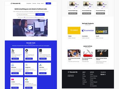 Nocode HQ Website Redesign design web design ui figmadesign figmaafrica uiux figma ui design landing page redesign concept website design nocodehq nocode